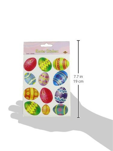 Beistle 44005 4-Pack Easter Egg Stickers Sheet 4-3//4 by 7-1//2-Inch Sheet