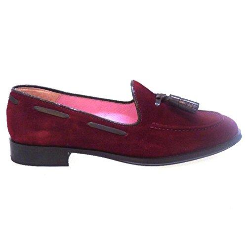 Zapatos Mujer Mocasines Naúticos Bisue 35730 Burdeos: Amazon.es: Zapatos y complementos