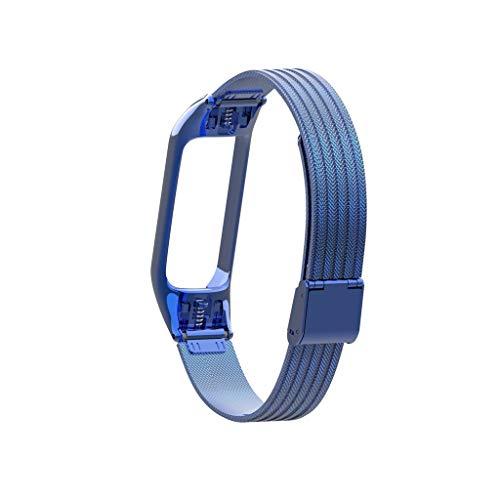 Finedayqi ❤ Luxury Stainless Steel Metal Wrist Strap Wristband for Xiaomi Mi Band 3 Watch (Blue) by Fineday (Image #3)