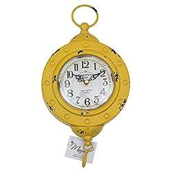 Manual Woodworker Yellow Scale Rue de La Paix Paris Wall Clock