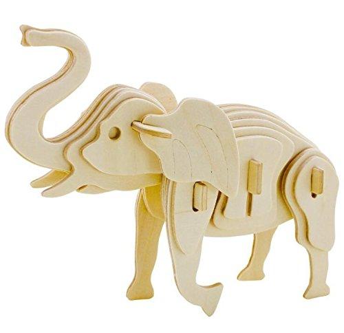 Huihuger 3D lovely elefante puzzle in legno fai da te a mano Montaggio modello bambini prima educazione puzzle