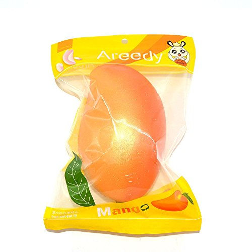 Areedy Squishy Gold Mango Colossal Slow Rising Scented Fruit Squishies