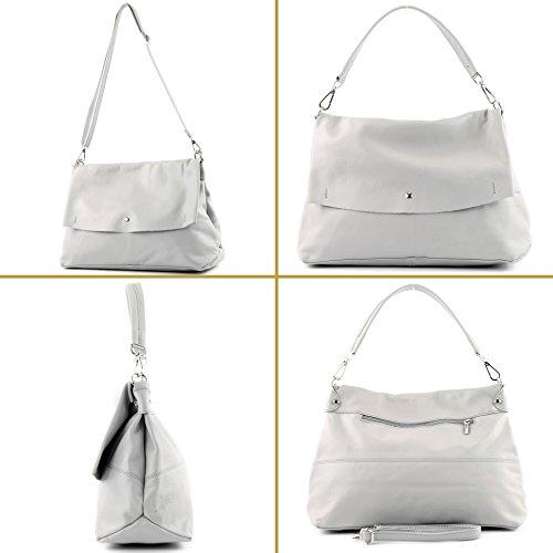 sac Sac nappa sac bandoulière Italy cuir Made IT40 sac sac à in Blue femme italien de cuir modamoda main à Xq6TIS