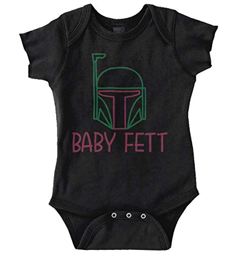 Bounty Hunter Funny Galaxy Adorable Gift Romper Bodysuit Black -