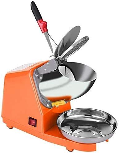 かき氷機 電動かき氷機 家庭用 商業および家庭用、4色用電動アイスクラッシャーステンレス鋼のアイスクラッシャー、 (Color : Orange)