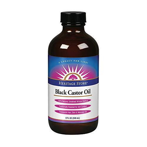 Black Castor Oil (Fragrance Free) Heritage Store 8 oz Liquid