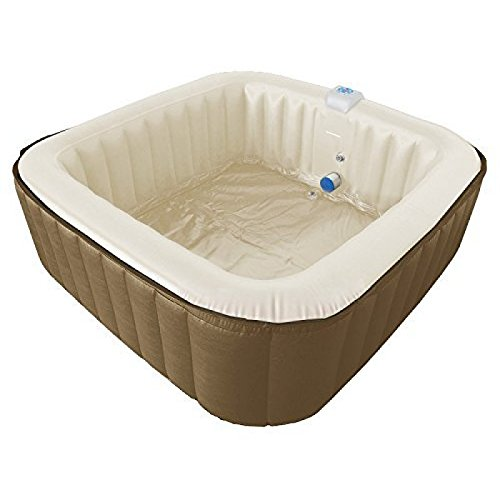 Jacuzzi hinchable de aqua Bubble Spa Square XXL para 4 - 6 ...