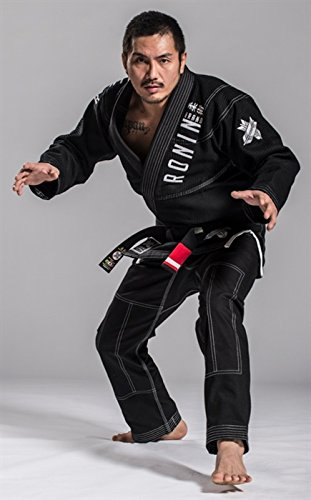 - Ronin Imperial Gold Weave BJJ Gi - Black - A3