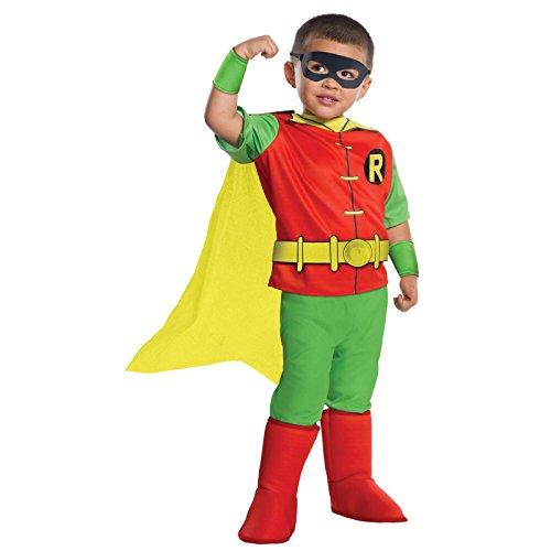 DC Comics - Robin Deluxe Toddler Costume (3T-4T) (Robin Girl Costume Toddler)