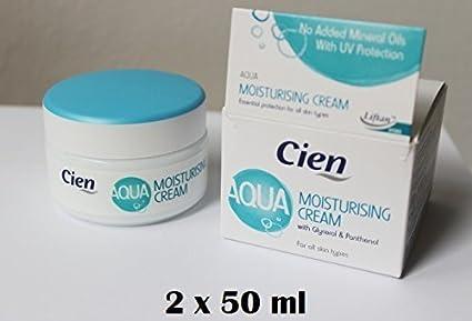 Set of 2 x 50 ml Cien Aqua Moisturising Cream for all skin types by cien