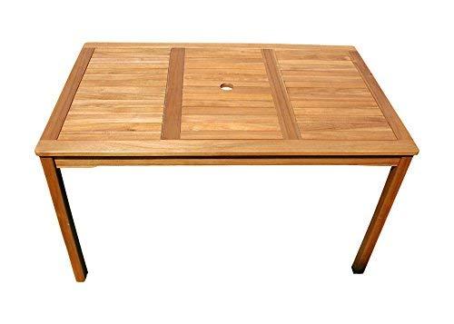 SAM Gartentisch Escobar Holztisch mit Schirmloch, Akazienholz massiv