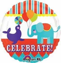 "Anagram International Big Top Animals Celebrate Balloon, 21"", Multicolor by Anagram International"