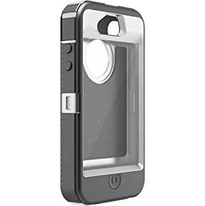 OtterBox Defender Series Case and Holster for iPhone 4/4S - Frustration-Free Packaging - White/Gray