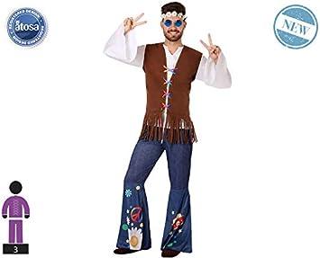Atosa-60007 Atosa-60007-Disfraz Hippie-Adulto Hombre, Color marrón ...
