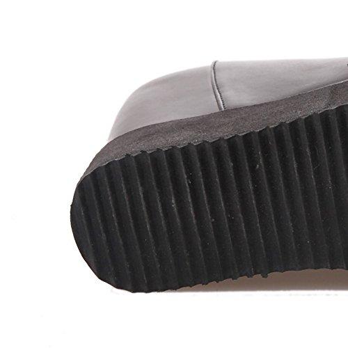 Balamasa Flickor Plattform Öka Inne Dragkedja Bak Imiterade Läder Pumpar-skor Svarta