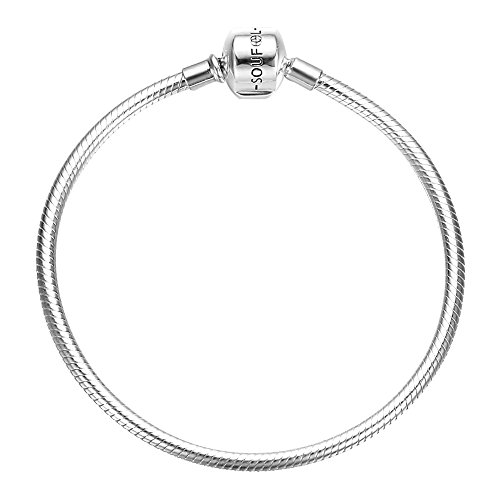 SOUFEEL Exclusive 925 Sterling Silver Basic Charm Bracelet Snake Chain Bracelets 19cm for Mother's Day - Exclusive Jewelry