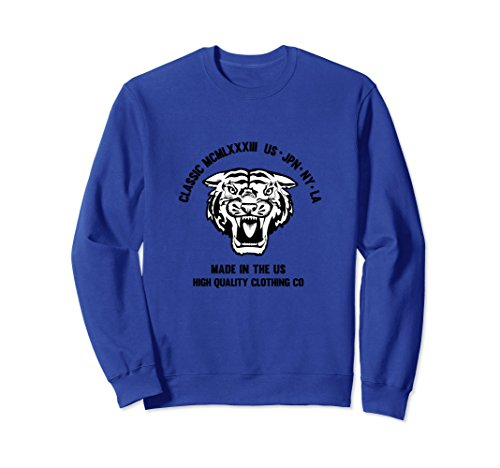 Unisex Classic Tiger Sweatshirt 2XL Royal Blue (Classic Sweatshirt Tiger)