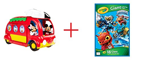 Fisher-Price - Disney Mickey Mouse Clubhouse - Cruisin' Camper and Skylanders Giant Coloring Page - Bundle