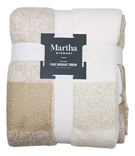 Martha Stewart Collection Faux Mohair Tonal Checker 60