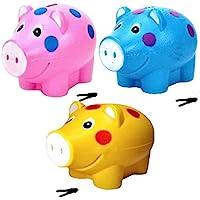 JOY STORIES™ Piggy Bank, Money Saving Bank, Coin Holder for Kids - Set of 3 (Multi Colour)