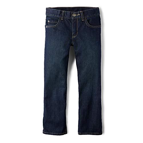 The Children's Place Big Boys' Bootcut-Jeans, Authentic Wash, 8 (Best School Clothes Sales)