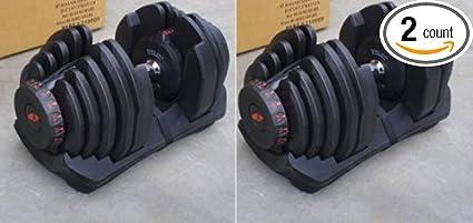 5-90lbs // 2.5-40kg Bowflex Selecttech 1090 Replica Dumbells PAIR