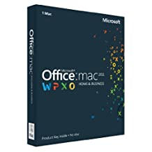 Office Mac Home & Business 2011 Key Card English (1PC/1User) (PC Key Card)