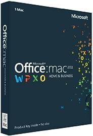 Office Mac Home & Business 2011 Key Card English (1PC/1User) (PC Key C