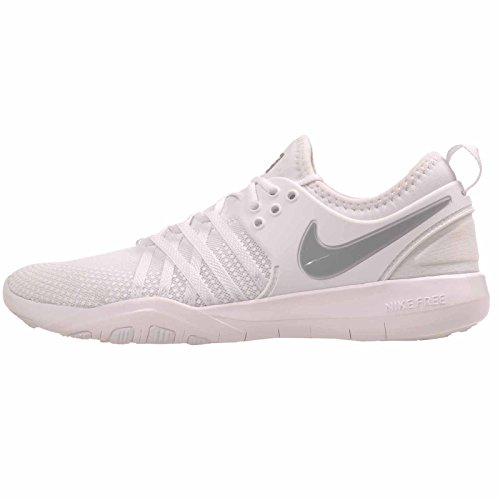 Nike Womens Free TR 7 Running Trainers 904651 Sneakers Shoes (UK 6.5 US 9 EU 40.5, White Metallic Silver 100)