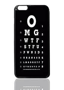 """Funny Reading Test Image Unique Diy New Hard Snap On Cover Protector Case For iPhone 6 Plus (5.5"""") inches"""