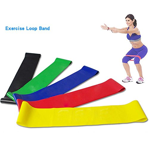 LtrottedJ Resistance Band Loop Yoga Pilates ,Home GYM Fitness Exercise Workout Training by LtrottedJ (Image #8)