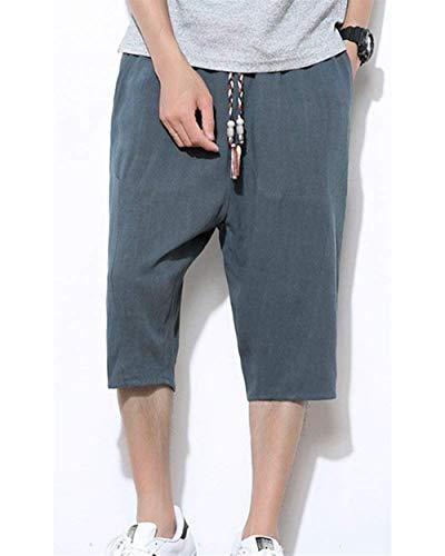 Bolsillos Pantalones Targogo Los Grün2 4 Laterales De Sólido Basicas Cordón 3 Cortos Color Hombres Sueltos Deportivos Chándal fxx1R