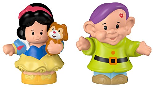 Fisher-Price, Little People, Disney Princess, Snow White and Dopey - White Snow Princess Figure