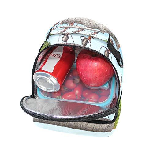 ajustable Bolso doble correa de almuerzo con picnic para ng76qXgfW