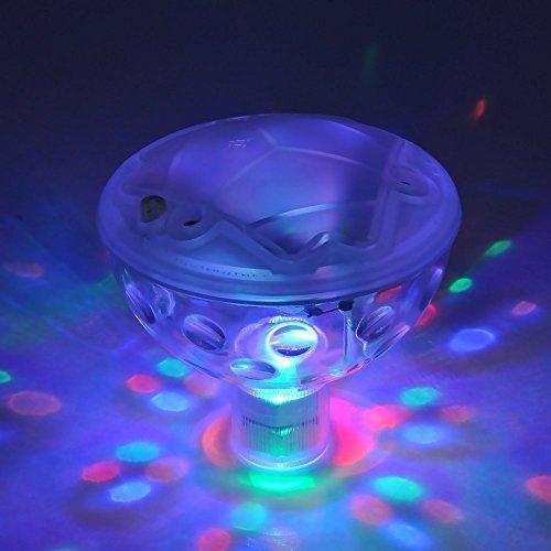Waterproof Underwater Floating Lamp LED Disco Aqua Glow Multi Colour Flashing Bathroom Pond Pool ...