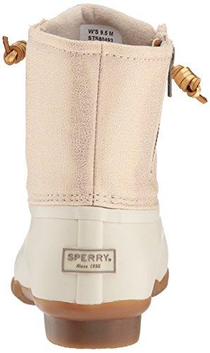 Sperry Top-sider Dames Zoutwater Glinsterende Regenlaarzen Haver / Goud