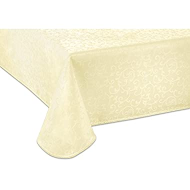 Lenox Opal Innocence 60-by-102-Inch Oblong / Rectangle Tablecloth, Ivory
