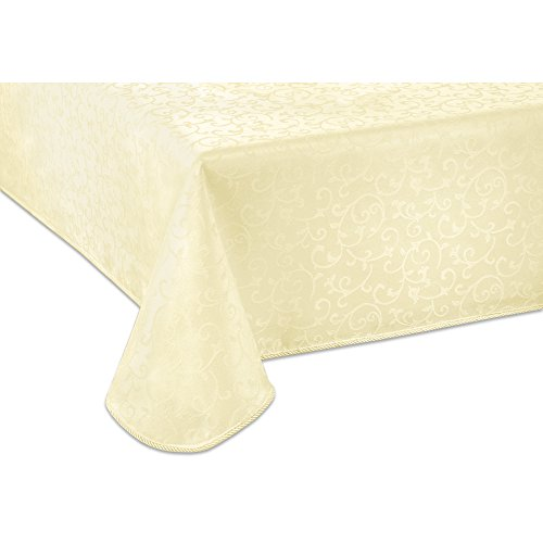 Lenox Opal Innocence 60-by-84-Inch Oblong / RectangleTablecloth, Ivory