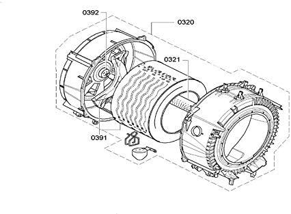 Cubeta Complete con rodamientos y junta referencia: 00713389para Lava Ropa Bosch