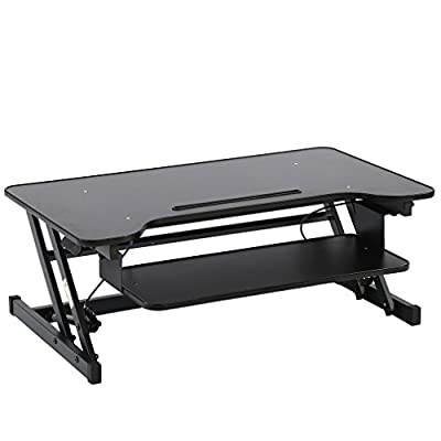 """BestMassage Standing Desk Adjustable Height Stand Up Sit Stand For Laptop And Monitor,36"""""""