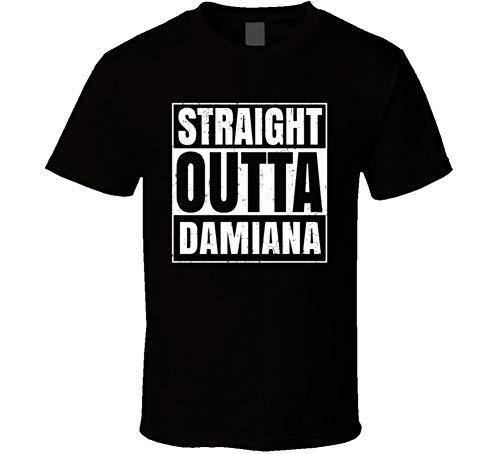 Tee Damiana (Straight Outta Damiana Funny Favorite Snack Food Compton Parody T Shirt 2XL Black)