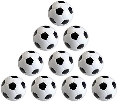 EYEPOWER Pelotas de Futbolín 31 mm 16 gr | Conjunto de 10 Bolas de plástico Duro Antideslizante | Motivo hexágonos Blancos y Negros: Amazon.es: Juguetes y juegos