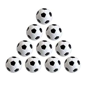 Eyepower 12070 - Lote de pelotas de futbolín (10 unidades, 36mm, 24g, duras y adherentes)