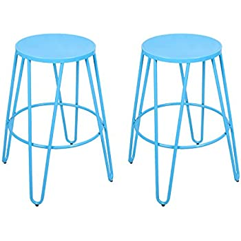 Metal Stackable Round Top Backless Barstools Set of 2  sc 1 st  Amazon.com & Amazon.com: Linon Home Decor Stacking Stool Natural: Kitchen u0026 Dining islam-shia.org