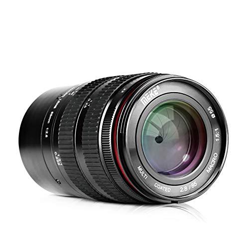 MEKE 85mm F2.8 Manual Focus Aspherical Medium Telephoto Full Frame Macro Lens with Portrait Capability for Sony E-Mount Digital Mirrorless DSLR Cameras