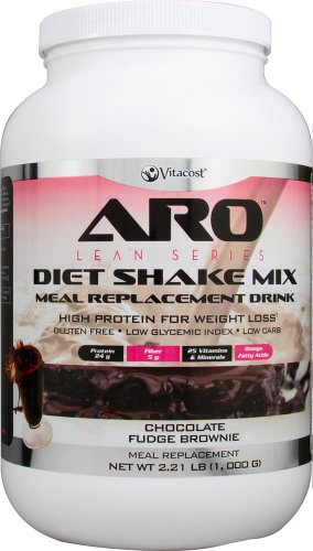 ARO-Vitacost Lean Series Diet Shake Mix Chocolate Fudge Brownie – 2.21 lbs 1000 g