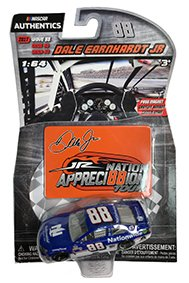 NASCAR Authentics Dale Earnhardt Jr. #88 Diecast Car 1/64 Scale - 2017 Wave 88 - Dale Earnhardt Jr. 2017 Nationwide Throwback with Appreci88ion Darlington Magnet - Collectible