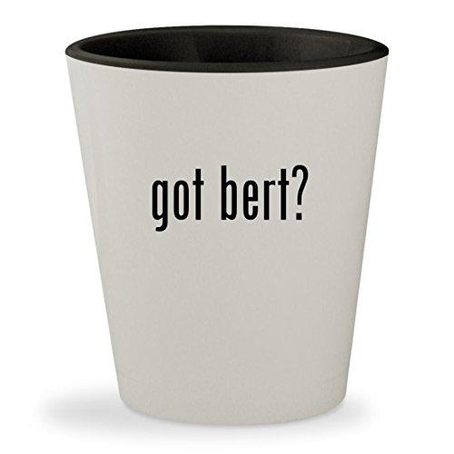 Ernie Mask (got bert? - White Outer & Black Inner Ceramic 1.5oz Shot Glass)