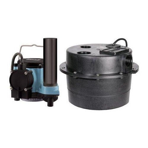 Little Giant 506066, WRSC-6 1/3 hp Sump Pump with Piggyback Mechanical Float Switch 3.5 Gallon Tank & 10 ft. Cord, 230V - 50/60Hz