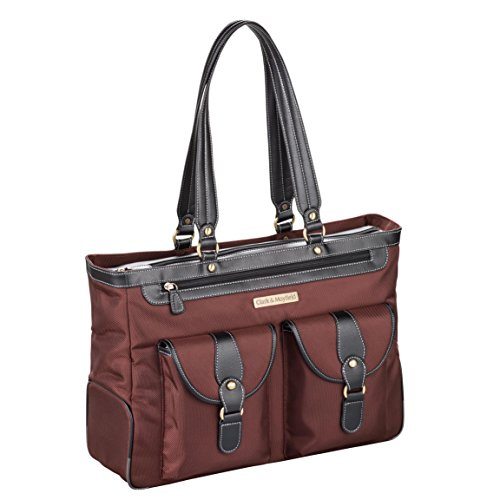 Clark & Mayfield Marquam Laptop Handbag 18.4'' (Bordeaux Brown) by Clark & Mayfield